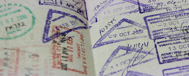 Immigration Passport for Thailand